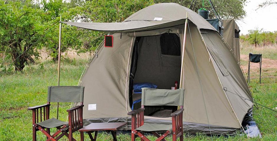 Semi-luxe kampeersafari