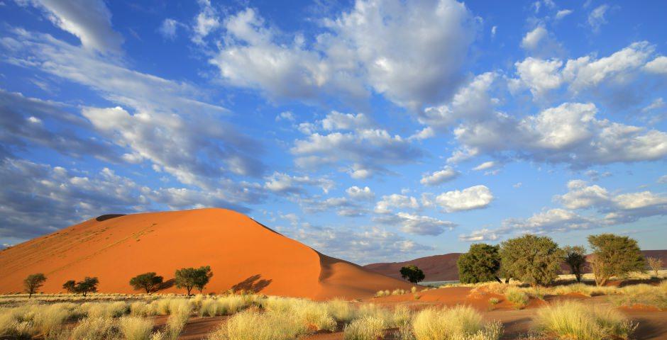 De wereldberoemde rode duinen van Sossusvlei